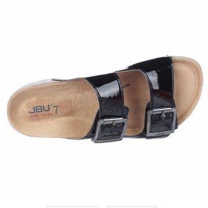 JBU by Jambu Ellen Too Patent Leather Slides, sz 7